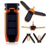 Ailiebhaus-Camping-18-LED-Zelt-Laterne-Solar-Lampe-faltbare-Solarleuchten-Dreiblttrige-Taschenlampe-Orange-0