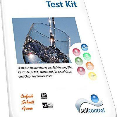 Selfcontrol-UW-6510-D-01-Trinkwasser-8-fr-1-Komplett-Test-Bestimmung-von-Bakterien-Blei-Pestiziden-Nitrit-Nitrat-pH-Wasserhrte-und-Chlor-0